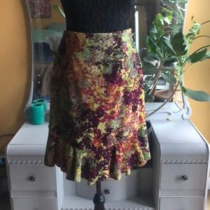 Anthropologie ruffle pencil skirt
